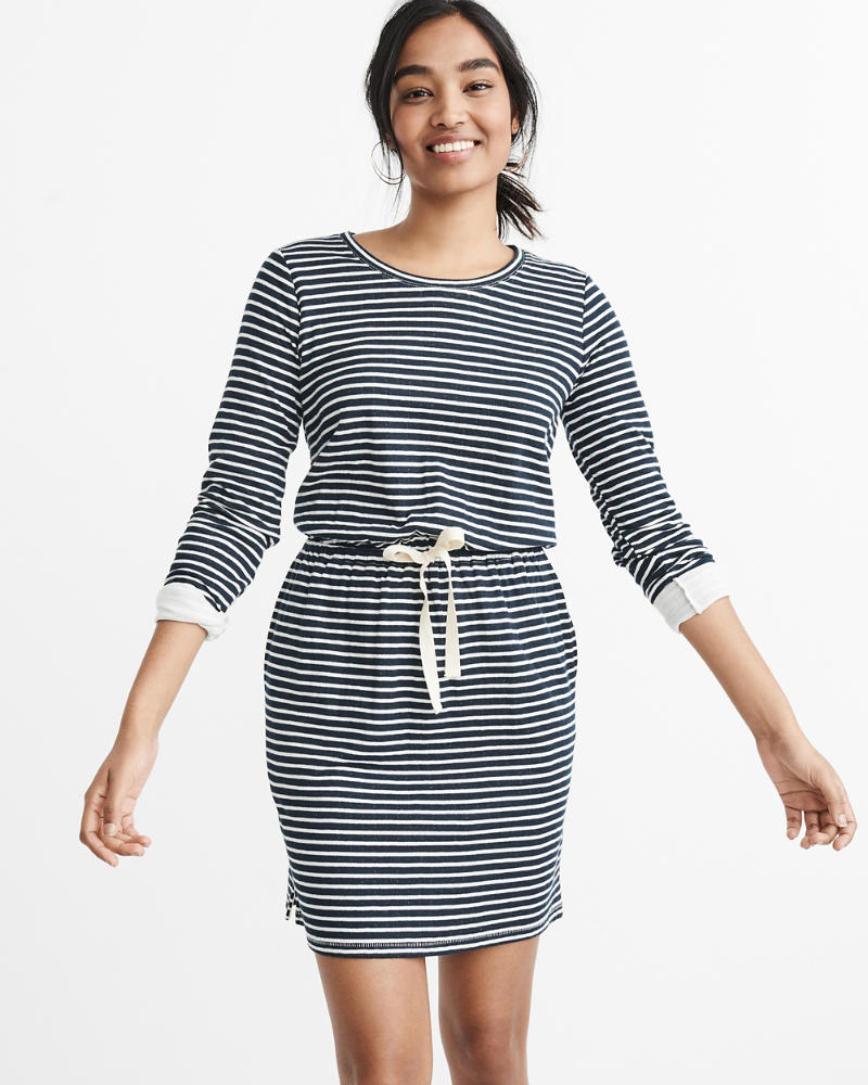 button-front-dress by abercrombie-&-fitch