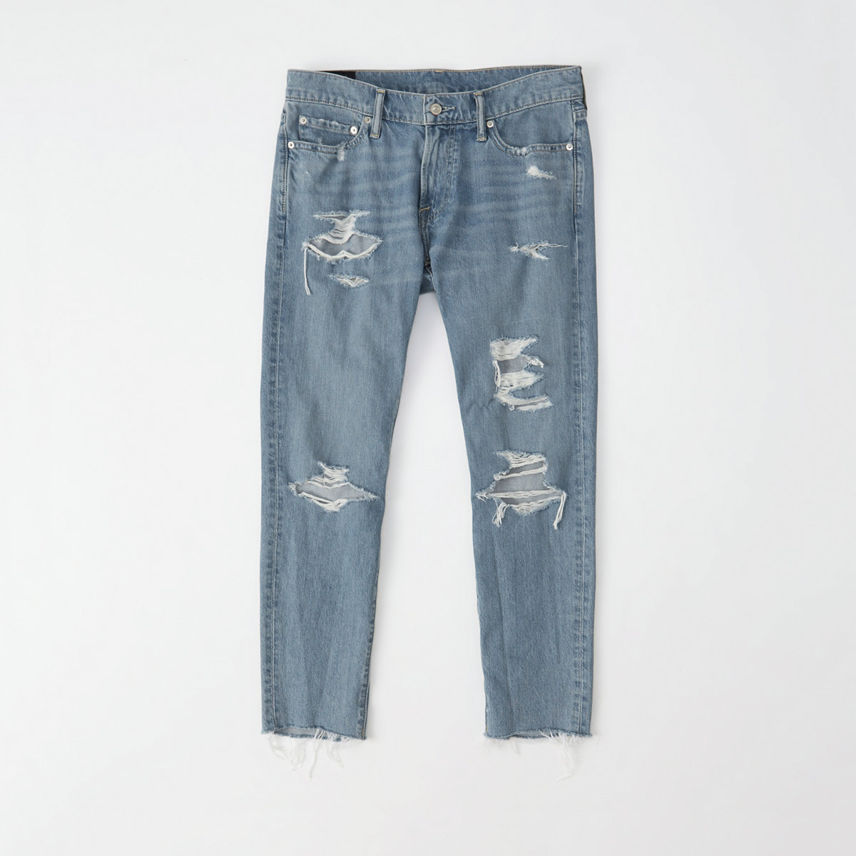 Ripped Slim Cropped Jeans