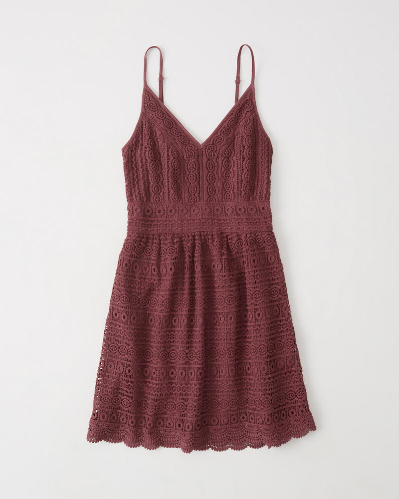 Womens Lace Skater Dress  b7718877d