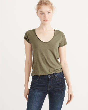 ANF The A&F Relaxed V Tee