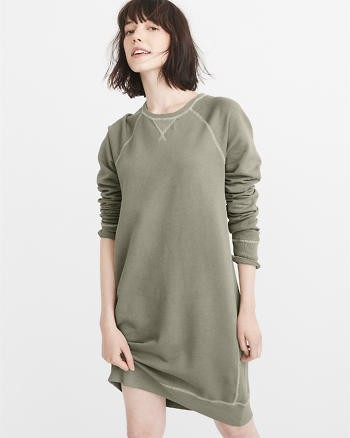 ANF Garment Dye Sweatshirt Dress