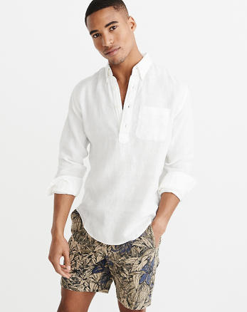 Blusa De Lino Blanco - Compra lotes baratos de Blusa De