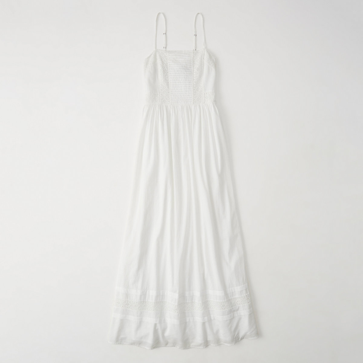 Lace Pieced Maxi Dress
