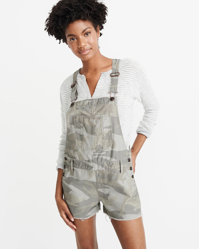 Camo Shortalls by Abercrombie & Fitch