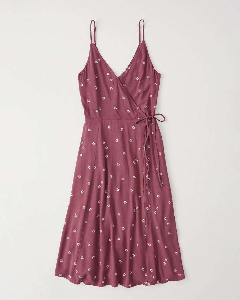 Womens - Vestido a media pierna cruzado | Womens - Dresses & Rompers ...