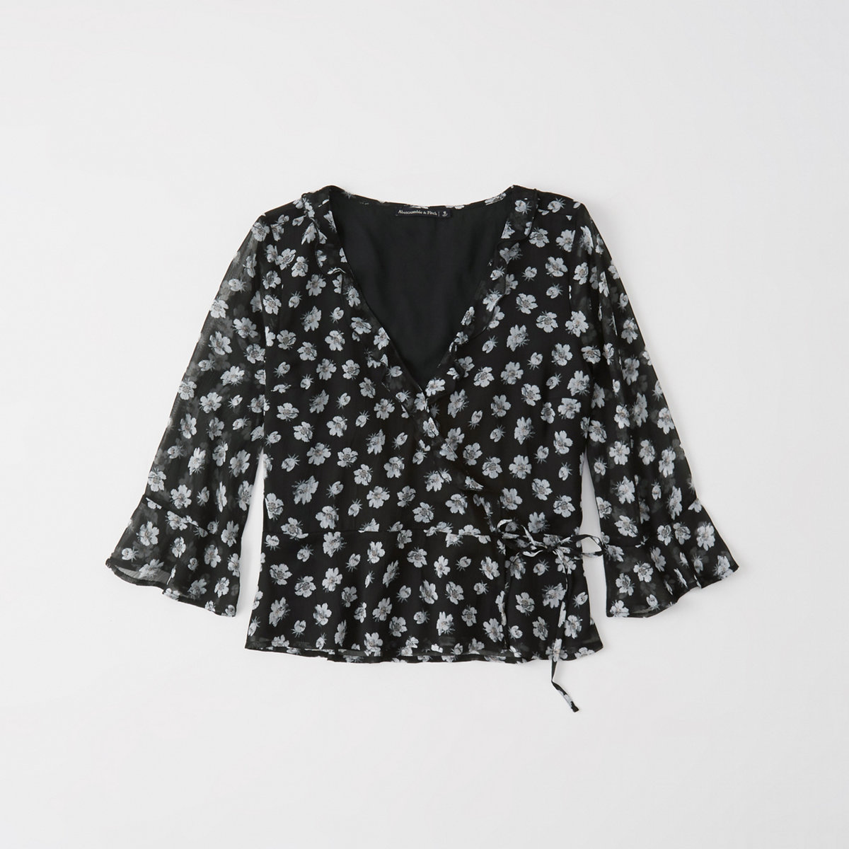 Wrap-Front Blouse