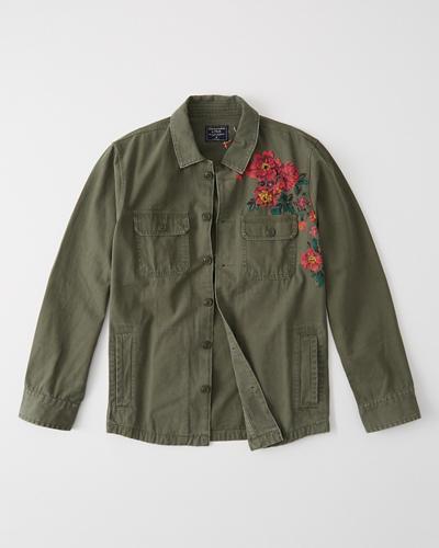 d961dde3d893b Hombre Chaqueta tipo camisa con diseño bordado