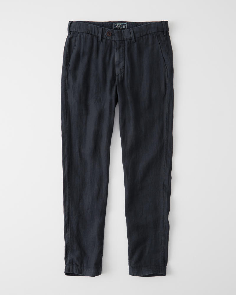 Skinny Linen Chino Pants by Abercrombie & Fitch