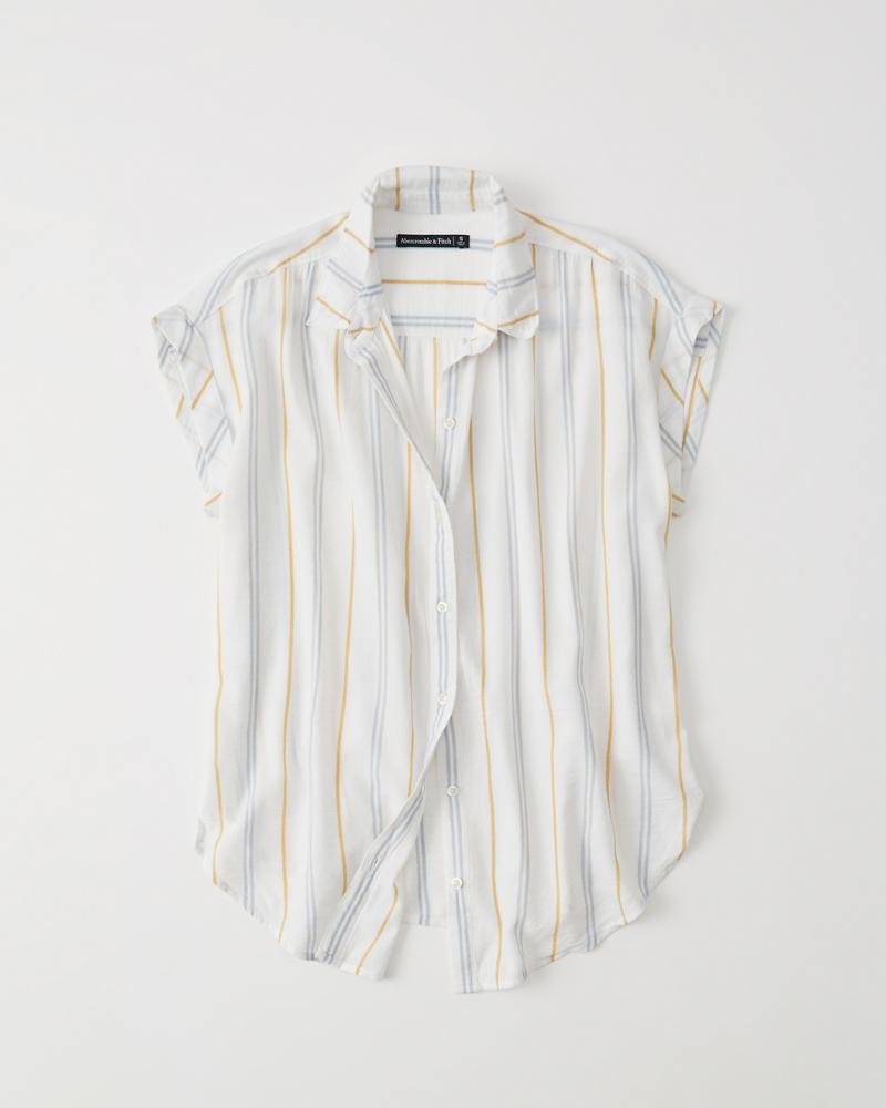 bbae3c65e88480 Dames Overhemd met knoopsluiting en gestrikte voorkant