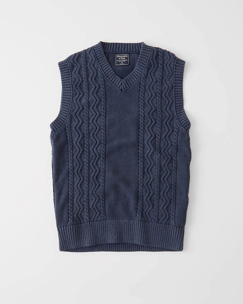 Cable Sweater Vest | Tuggl