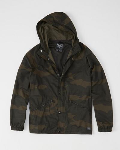 Pattern Windbreaker Jacket | Tuggl
