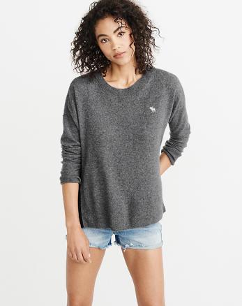 ANF Icon Zipper Crew Sweater