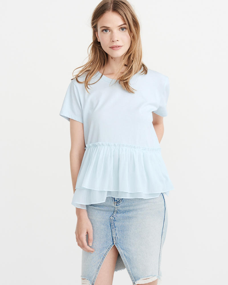 Chiffon Peplum Top by Abercrombie & Fitch