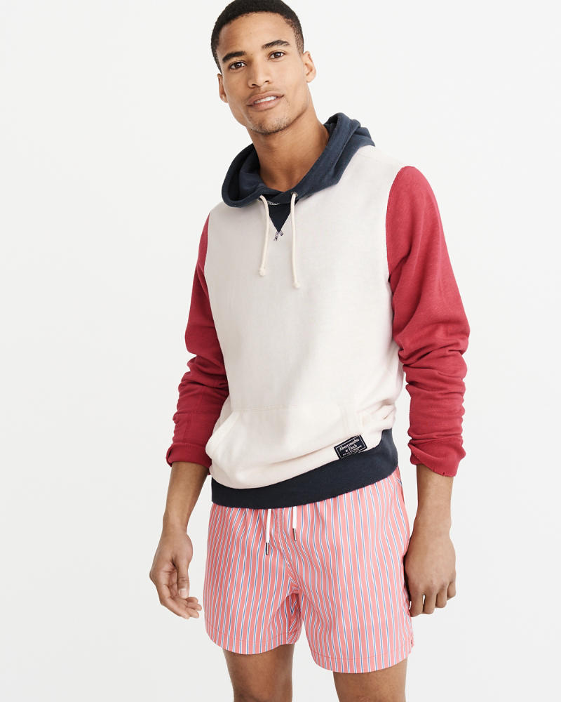 Americana Popover Hoodie by Abercrombie & Fitch