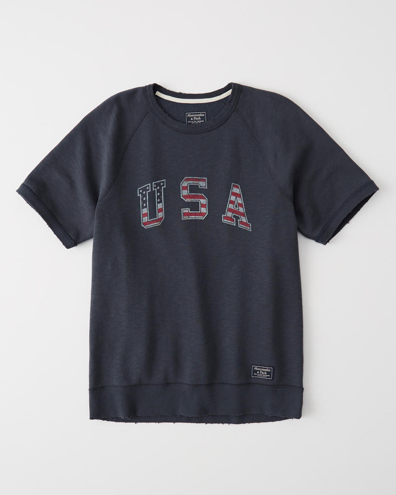 mens usa short sleeve crew mens clearance abercrombie ca