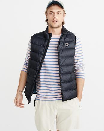 Mens Coats & Jackets. ANF Down-Filled Lightweight Vest