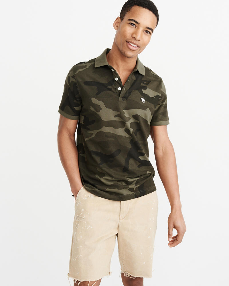 Camo Icon Polo by Abercrombie & Fitch