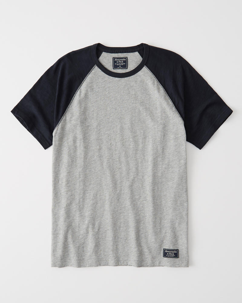 Short Sleeve Varsity Tee by Abercrombie & Fitch