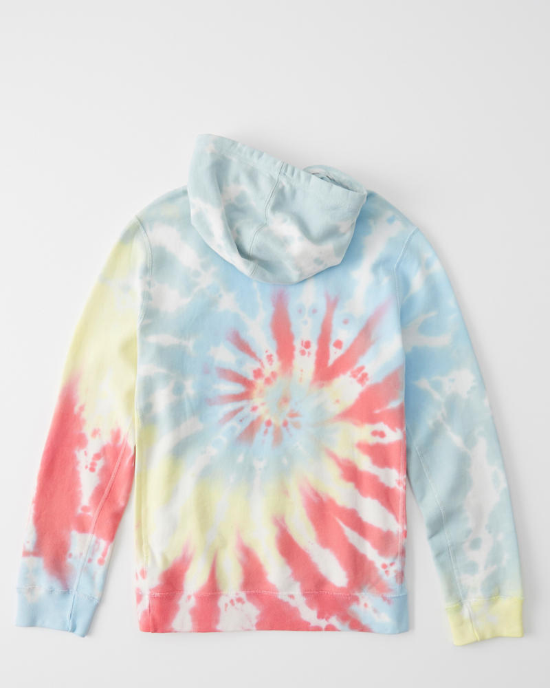 Tie Dye Pride Hoodie by Abercrombie & Fitch