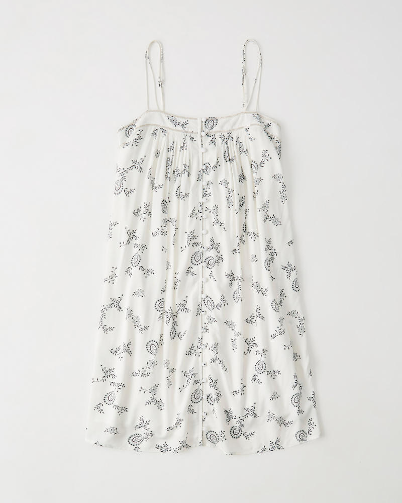 Button Front Swing Dress by Abercrombie & Fitch