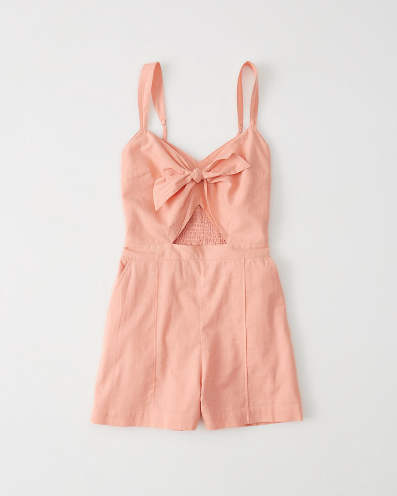 c6965951498 Womens Knot-Front Romper