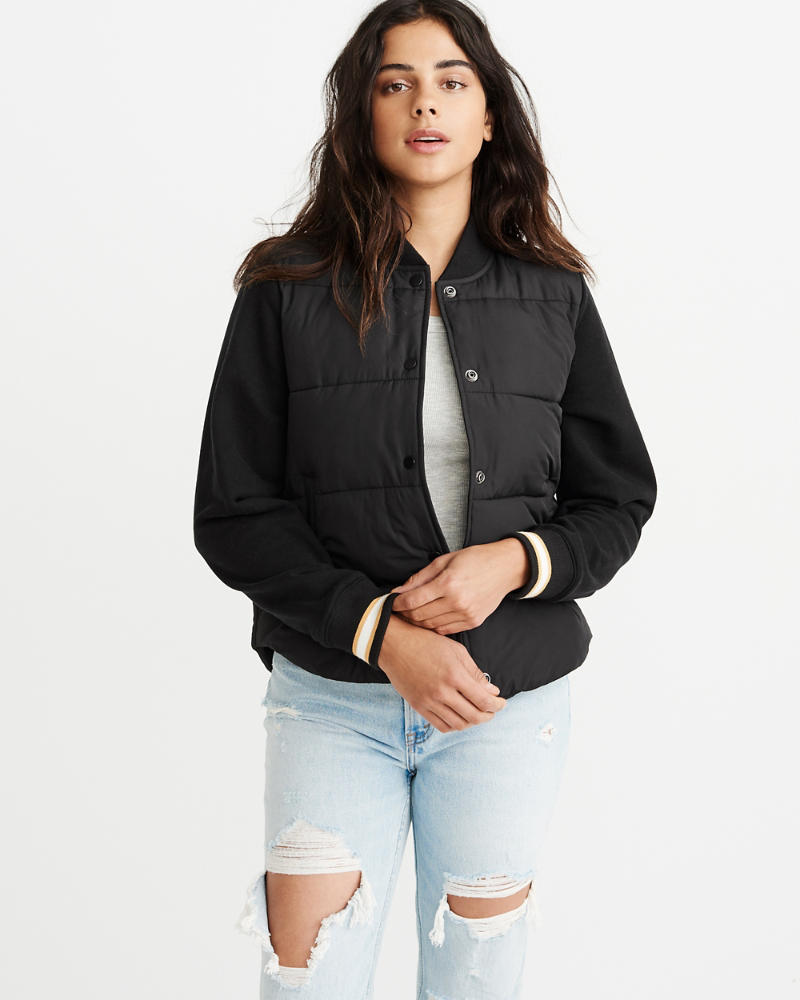 Puffer Twofer Bomber Jacket by Abercrombie & Fitch