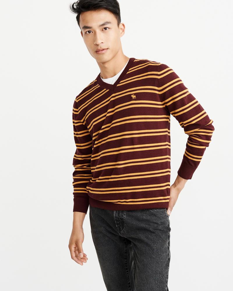 33424c36b8 Mens The A&F Icon V-Neck Sweater | Mens A&F Logo Shop | Abercrombie.com