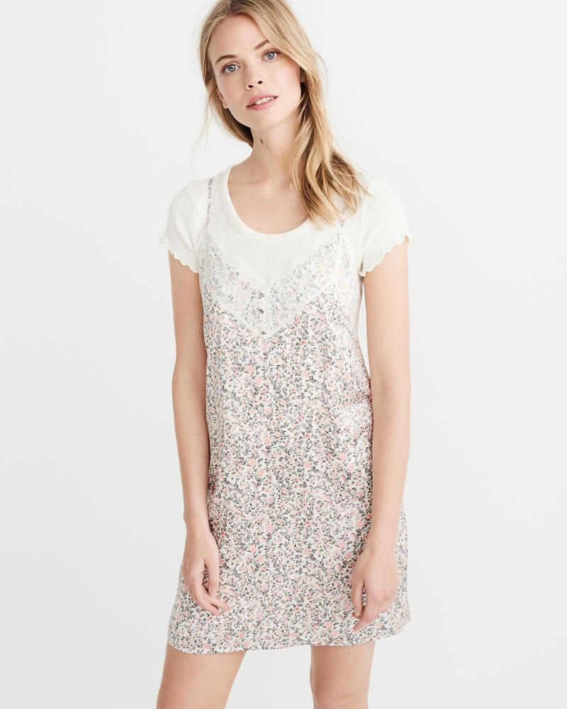 Lace Trim Slip Dress by Abercrombie & Fitch