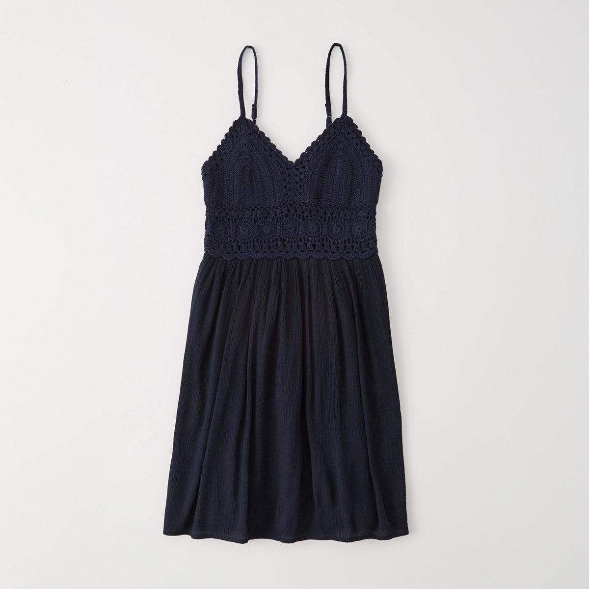 Crochet Sheer Waist Dress