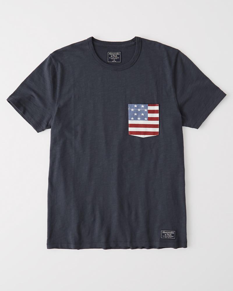 Americana Short Sleeve Tee by Abercrombie & Fitch