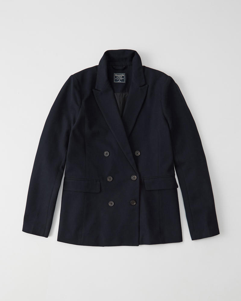 Double Breasted Blazer Abercrombie Co Jp