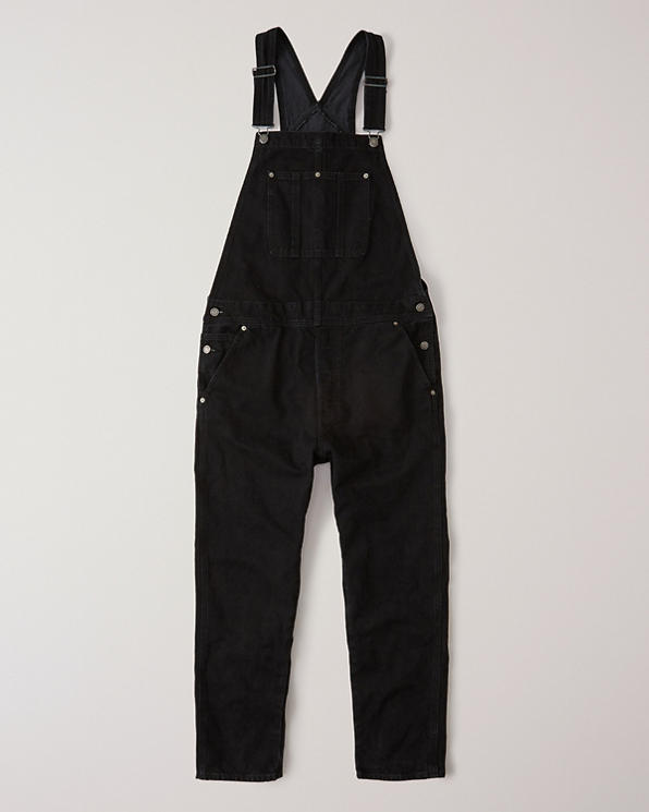 attractive style buy online wide selection of colours and designs Mens Black Denim Overalls | Mens Sale | Abercrombie.com