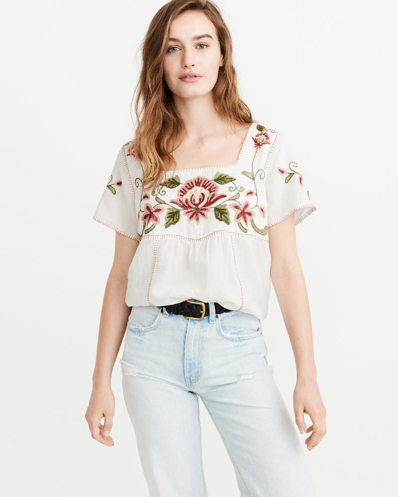 floral-embroidered-top by abercrombie-&-fitch