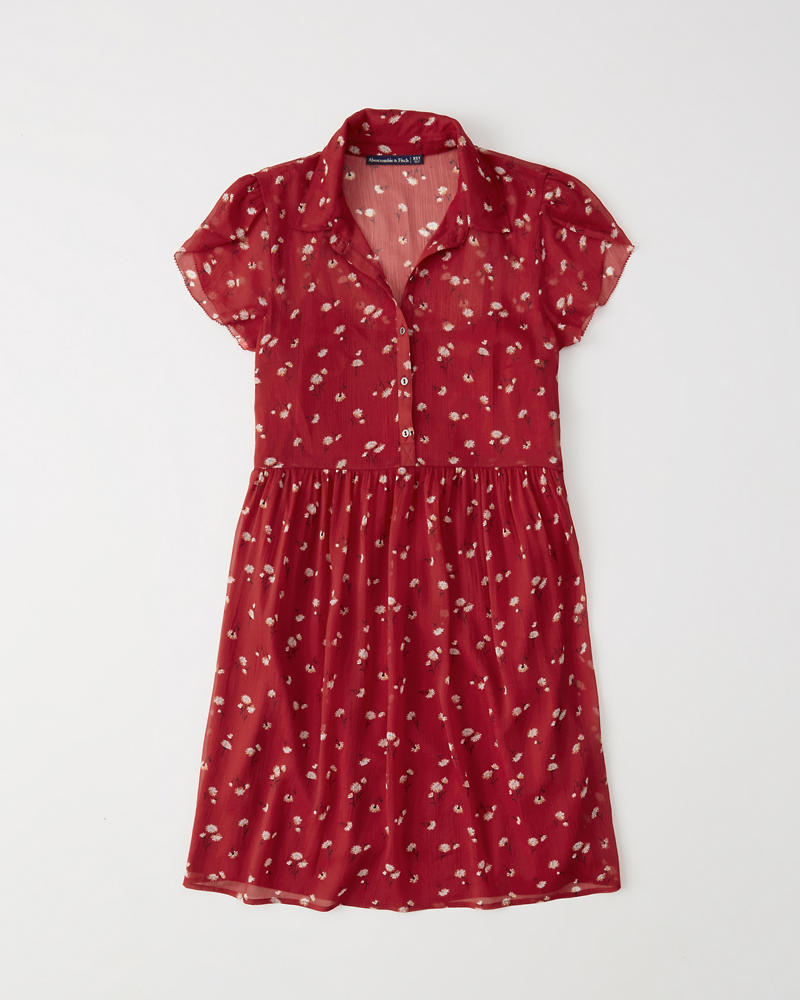 Chiffon Shirt Dress by Abercrombie & Fitch