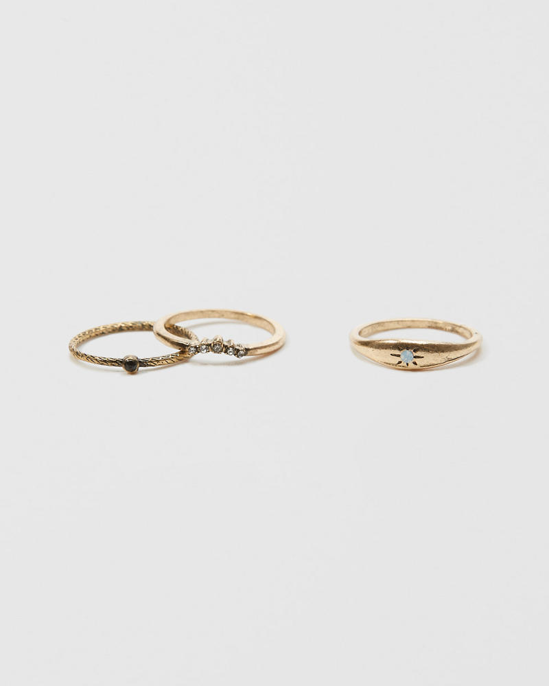 Gold Ring Set by Abercrombie & Fitch