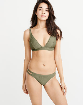 ANF Ribbed Wide Strap Triangle Bikini Top