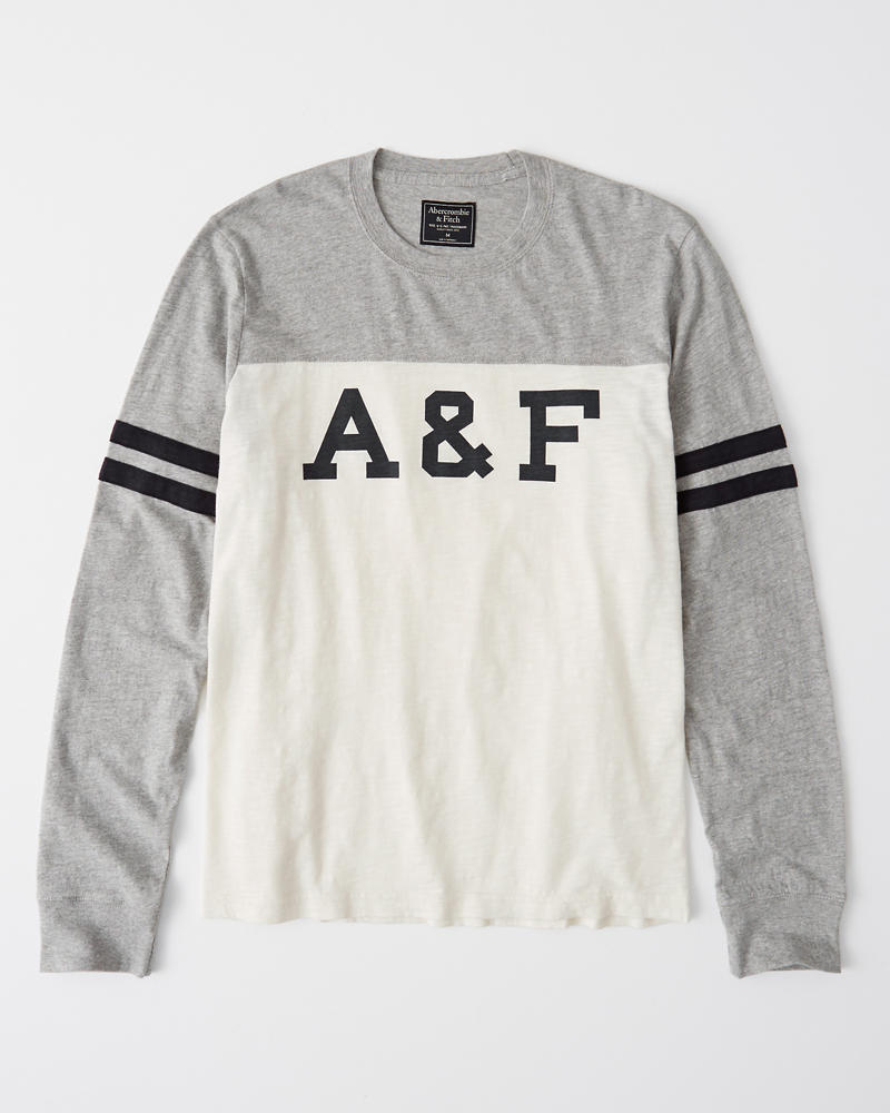 Varsity Logo Tee by Abercrombie & Fitch