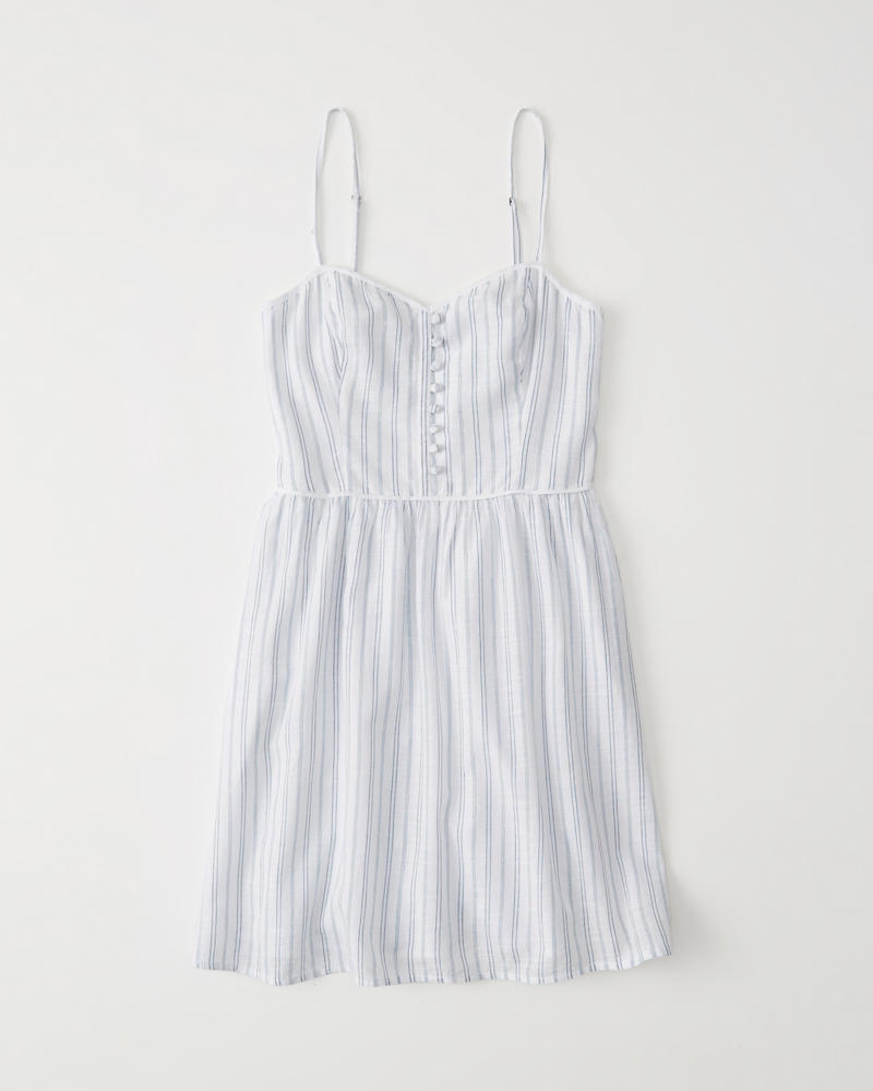 Button Front Skater Dress by Abercrombie & Fitch