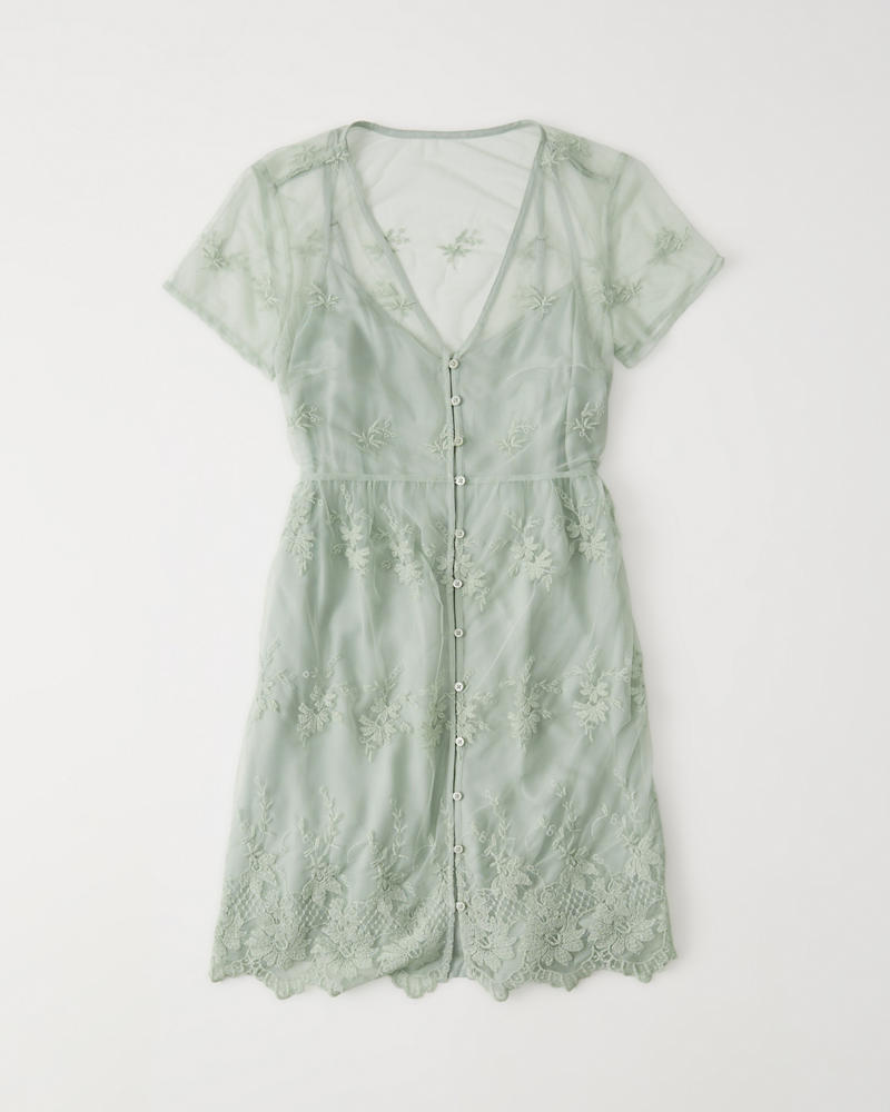 106a9e87 Womens Short-Sleeve Lace Dress | Womens Sale | Abercrombie.com