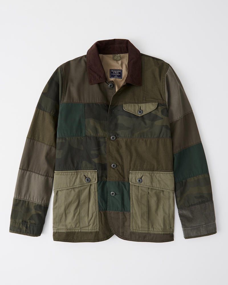 Mens Patchwork Safari Jacket Mens Clearance Abercrombie Com