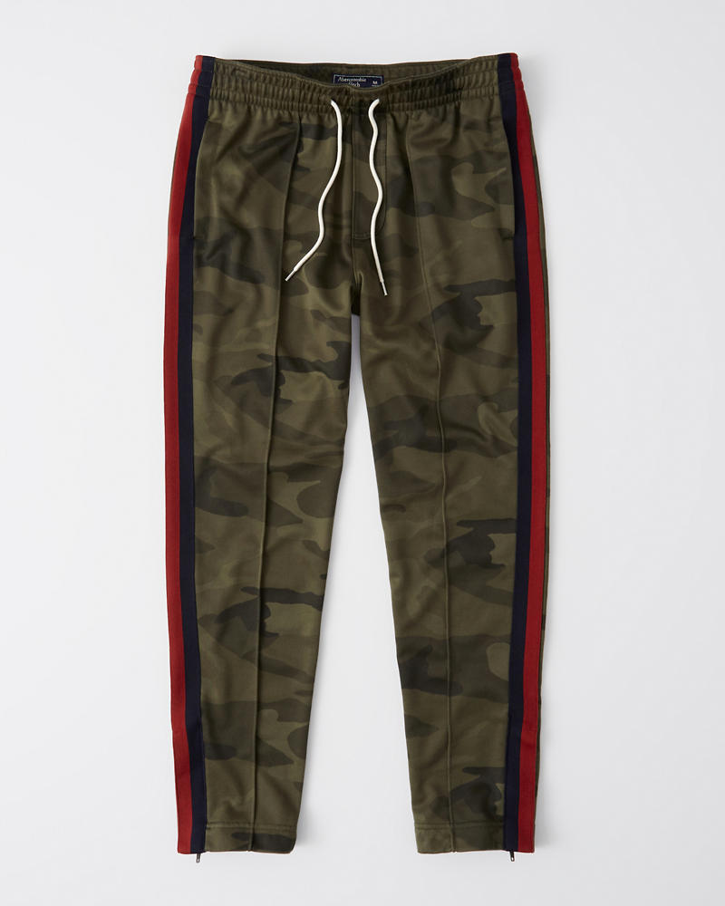Logo Tape Track Pants by Abercrombie & Fitch