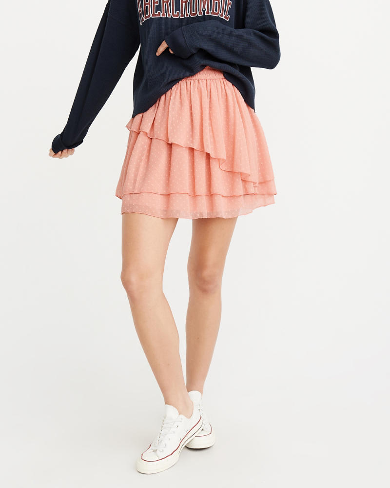 Asymmetrical Ruffle Mini Skirt by Abercrombie & Fitch