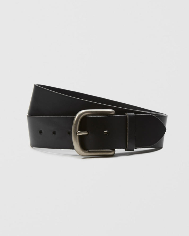 1 3/4 Inch Leather Belt by Abercrombie & Fitch