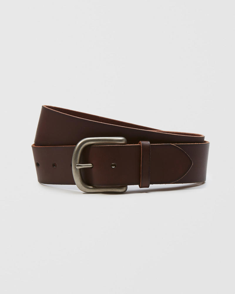 1bde1bba6 Mens 1 3 4-Inch Leather Belt