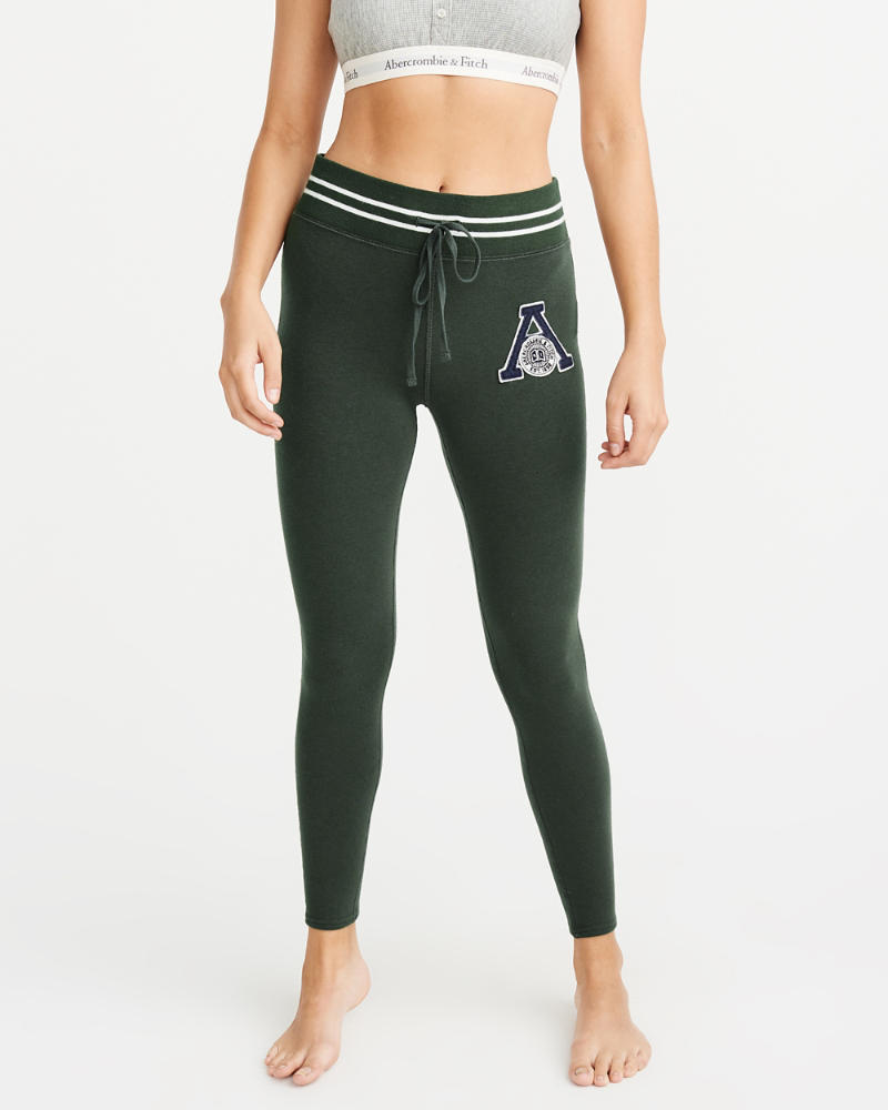 Varsity Logo Fleece Leggings by Abercrombie & Fitch