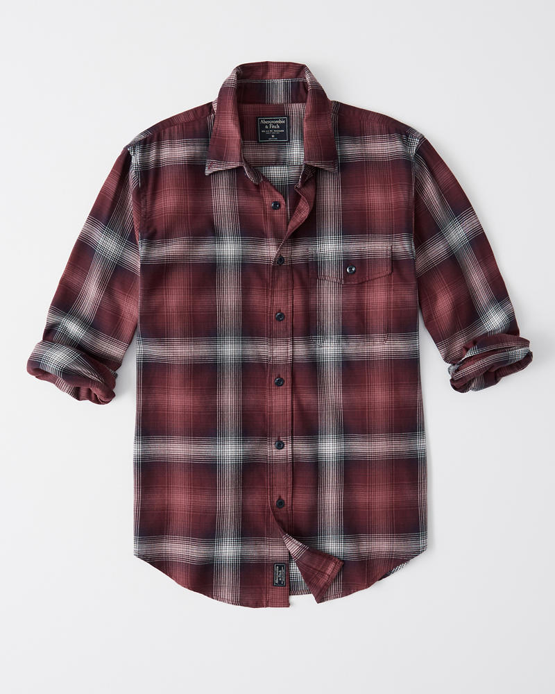 Stretch Plaid Shirt