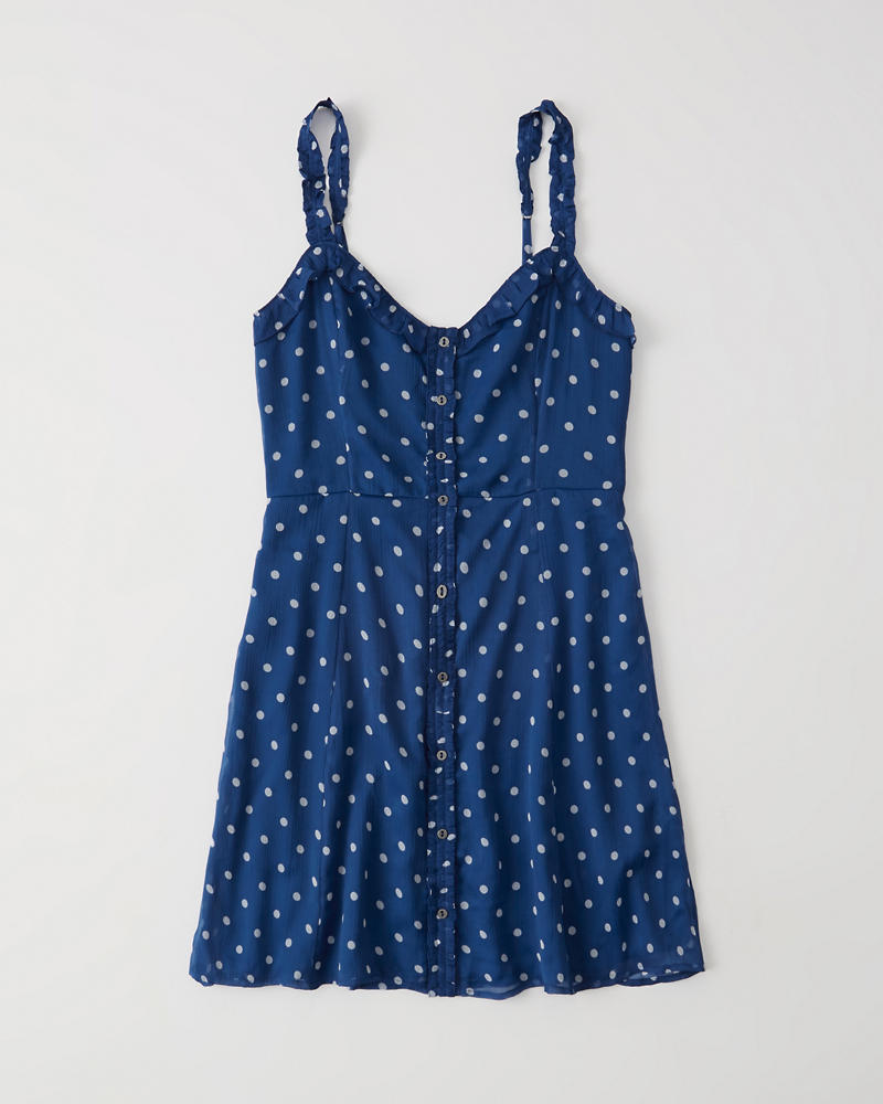 Button Front Dress by Abercrombie & Fitch