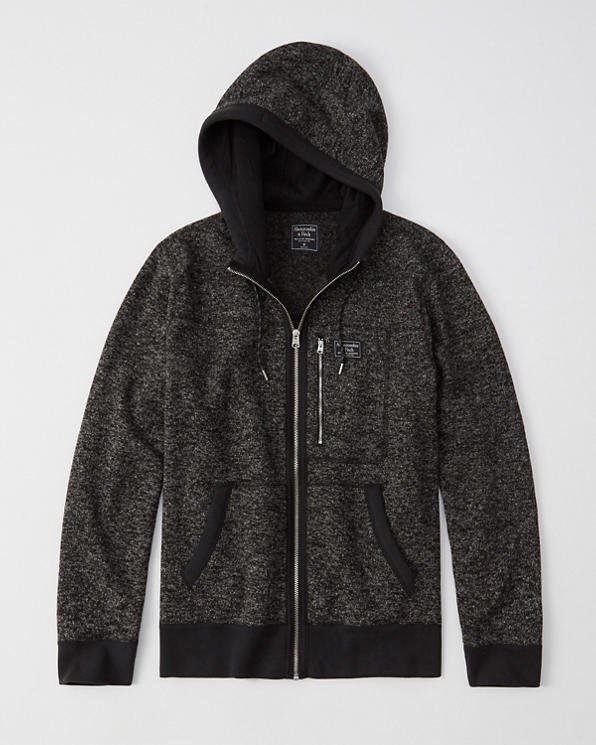 c7d0320cc8db39 Mens Sweater Fleece Full-Zip Hoodie   Mens Clearance   Abercrombie.com