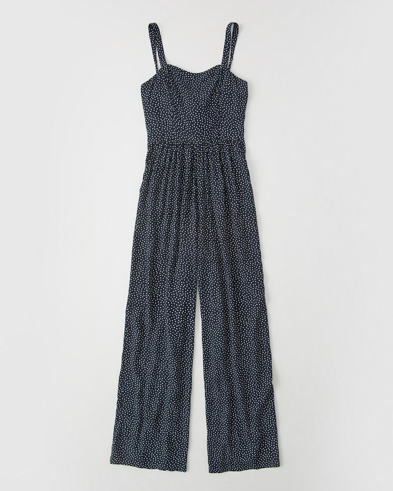 Tie Back Jumpsuit by Abercrombie & Fitch