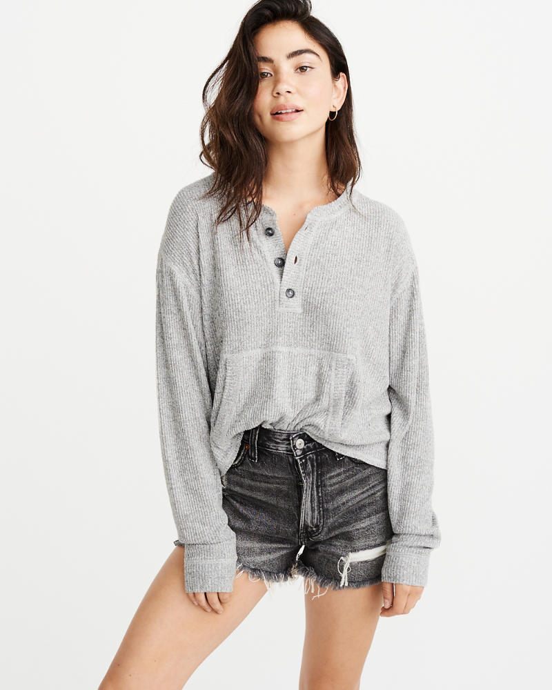 Cozy Henley Sweatshirt by Abercrombie & Fitch